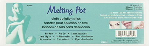 (Melting Pot Non Woven Cloth Waxing Strips, 9 Inch, 100 Count)