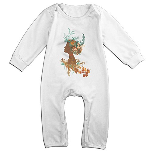 [Raymond Mujer Floral Long Sleeve Jumpsuit Outfits White 12 Months] (Forrest Gump Kid Costume)