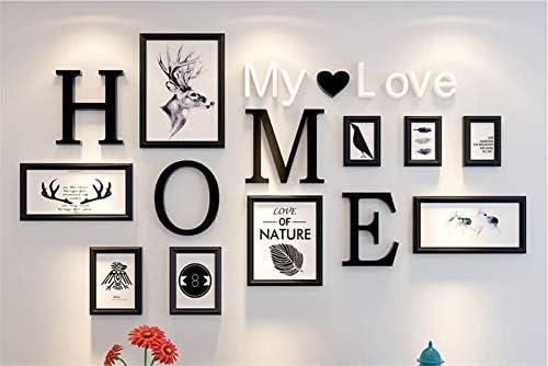 PP/&DD Fotowand,Collage Massivem Holz Kombination Ung/ültige anforderung,Kreativ Hintergrundwand.F/ür Eingerichtet Wohnzimmer Restaurant-A