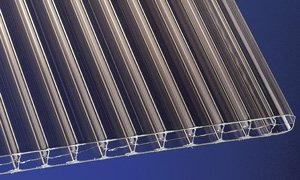Polycarbonat Stegplatten Hohlkammerplatten bronce 2500 x 1200 x 16 mm (36,62 EUR/qm)