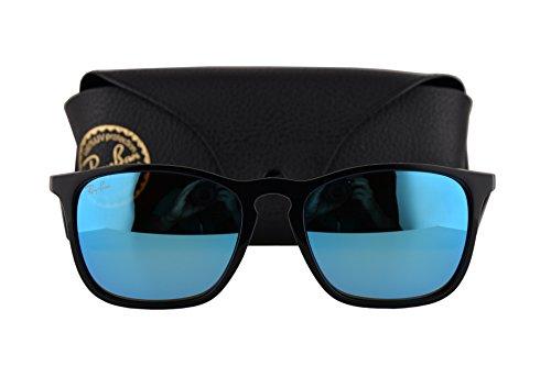 Ray Ban RB4187 Chris Sunglasses Black w/Light Green Mirror Blue Lens 60155 RB ()