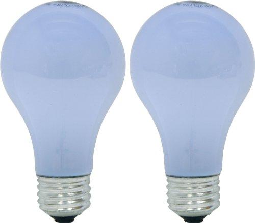 GE Lighting 63009 72A/W/RVL/H Frosted Reveal 72-Watt (100-watt replacement) 1120-Lumen A19 Light Bulb with Medium Base, 2-Pack