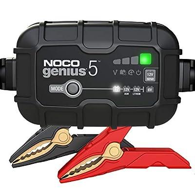 NOCO GENIUS5EU, 5-Amp Vollautomatisches Intelligentes Ladegerät, 6V und 12V Batterieladegerät, Erhaltungsladegerät, und…