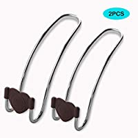 NAHAO Universal Car Headrest Hanger Hooks Metal Mini Headrest Coat Clothes Hanger Storage Hook Car