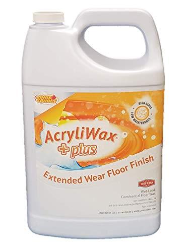 Acryliwax Plus High Gloss Commercial Floor Finish & Wax - Case of 4 - Vinyl Floor Tile Wax
