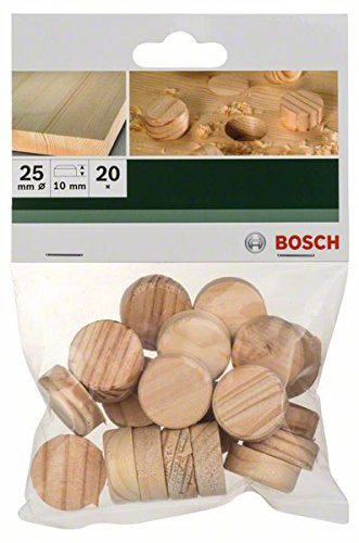 Bosch 2 609 255 322 - Espigas de madera (pack de 20) 2609255322