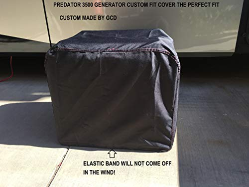 Harbor Freight Predator Inverter 3500 watt Generator Cover Custom Fit (Black)