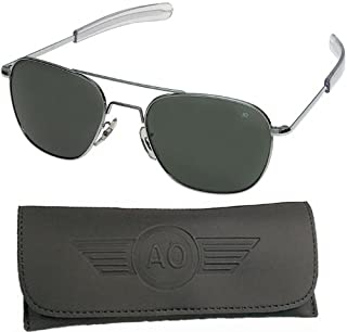 product image for American Optical Pilot Aviator Sunglasses 55 mm Shiny Silver