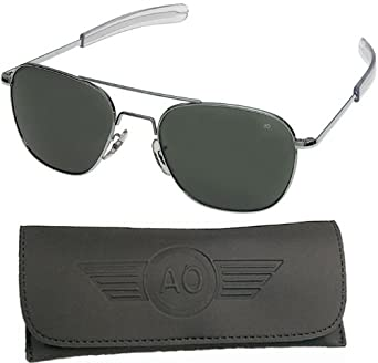 american aviator sunglasses j26c  Amazoncom: American Optical Pilot Aviator Sunglasses 55 mm Shiny Silver:  Sports & Outdoors