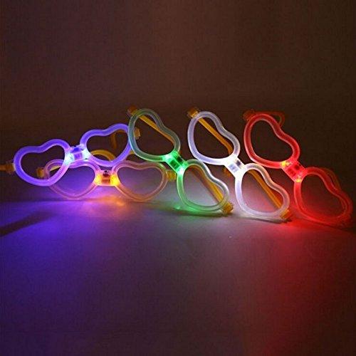 Lugii Cube lumineux Verres color/és fluorescents monture de lunettes en forme de c/œur