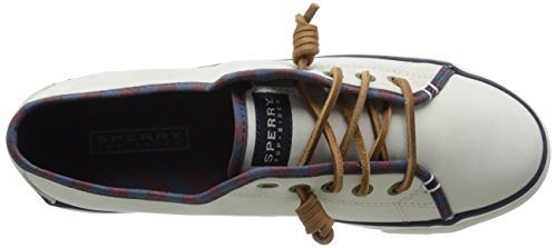 Sperry Top-Sider Womens Seacoast Nubuck Fashion Sneaker Ivory 4P8bn1GQx