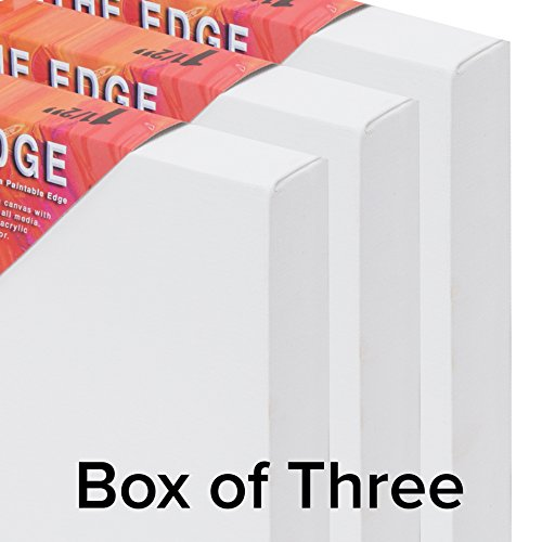 The Edge All Media Cotton Canvas 1-1/2'' Box of Three 24x48'' by The Edge