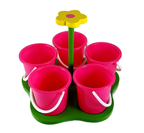 Ms Crafty Floral Spinning Art Caddy For Beads, Paints, Crafts