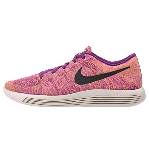 Nike Women's Lunarepic Low Flyknit Running Shoes (8 B(M) US, Bright Grape/Black-fire - Womens Road Shoe Fire