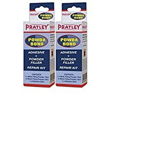 Pratley Plastic Repair Kit, 2 Pack Car Bumper Fix and Crack Filler Supplies, For Automotive Parts Like Radiators and Headlights, Heavy Duty and Quick Set, For Most Plastics, Metal, Glass, Fiberglass