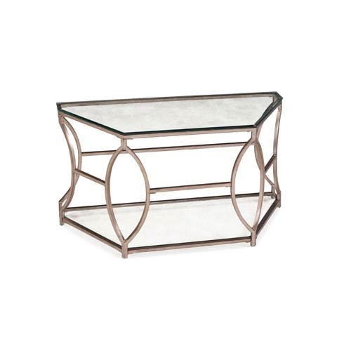 Price comparison product image Magnussen T2060 Nevelson Metal Demilune Sofa Table