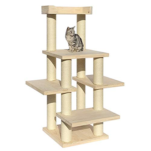 Cat Klettergerüst Spiele Lodge House Activity Center Toy Climber for Indoor-Katzen-Haustier-Katze-Baum Große Katze Turm aus Holz Baum Cat Scratch Beitrag Kann Ihre Katze Spiel, Bewegung und Ruhe mache