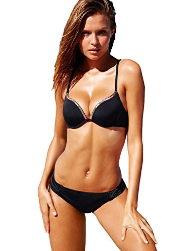Victoria's Secret Swim Set Push up Top & Knockout Bikini Bottom (Bra 32B Bottom XS)