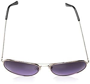 A.J. Morgan Women's Skye Aviator Sunglasses, Gold / Purple, 56 mm