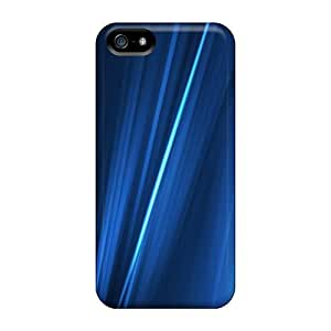 Mialisabblake Iphone 5/5s Hybrid Tpu Case Cover Silicon Bumper Blue Digital Lines by runtopwell