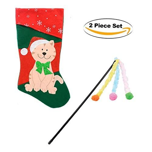 85%OFF Christmas Cat Stocking with toy – Includes BONUS cat toy!