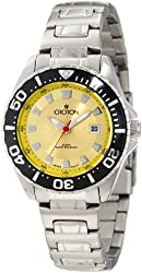 Croton Women's CA201228SSYL Yellow Dial Stainless Steel Watch