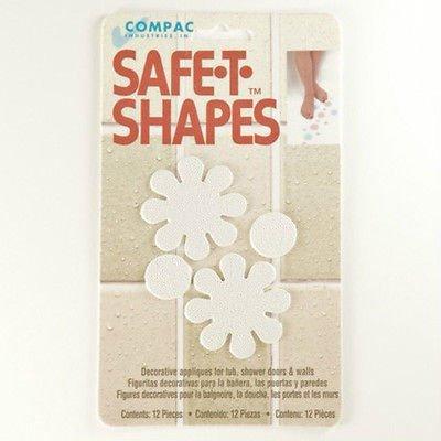 Safe-t-shapes White Daisy Safety Applique - Anti-slip Bath Tub Shower Sticker - Daisy Duck Baby Shower