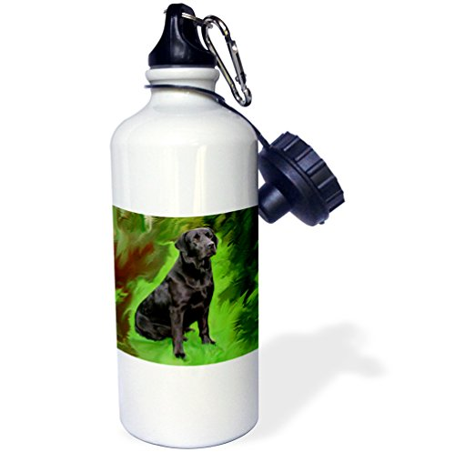 ck Labrador Retriever Sports Water Bottle, 21 oz, White (Retriever Bottle)