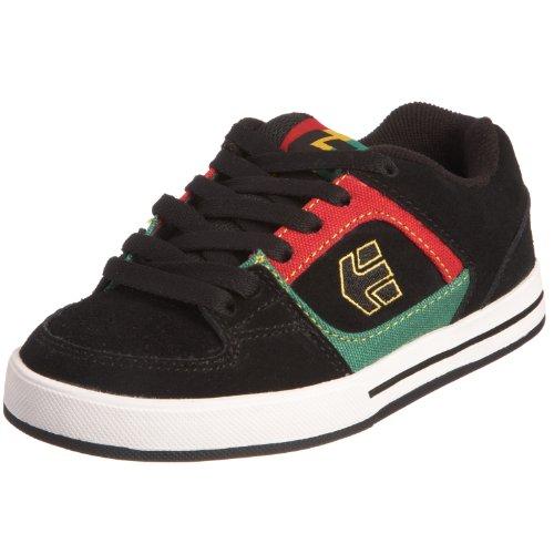 Etnies KIDS RONIN 4301000059576 - Zapatillas de skate de cuero para niños Negro (Black/Gold)