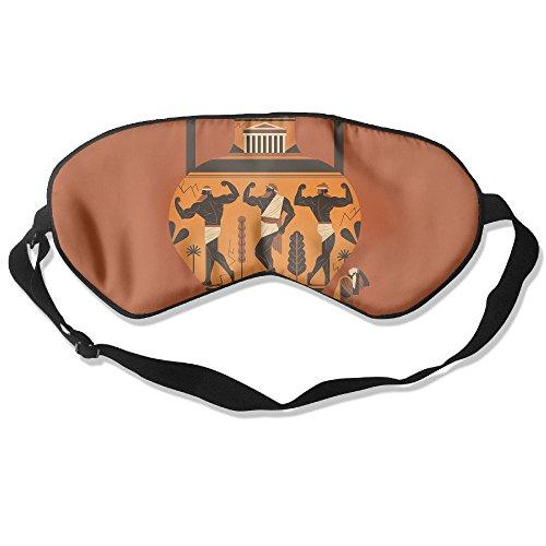 WUGOU Sleep Eye Mask Athens Great Aerobics Vase Lightweight Soft Blindfold Adjustable Head Strap Eyeshade Travel Eyepatch
