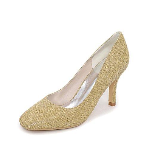 Autunno Serata Yellow Estate Stiletto Formale Matrimonio Donna L Festa yc E A Seta Primavera Bianco qIXxp86