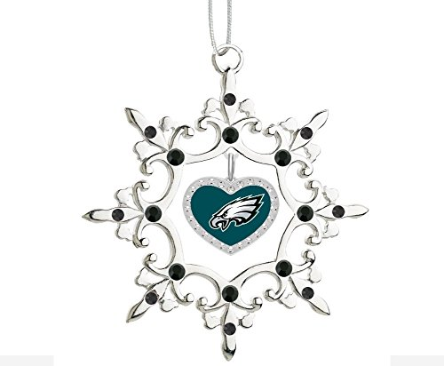(Final Touch Gifts Philadelphia Eagles Rhinestone Heart Christmas Ornament)