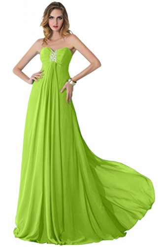 sunvary Corpiño Spaghetti Strap Trailing gasa Prom Pageant Fiesta verde oscuro