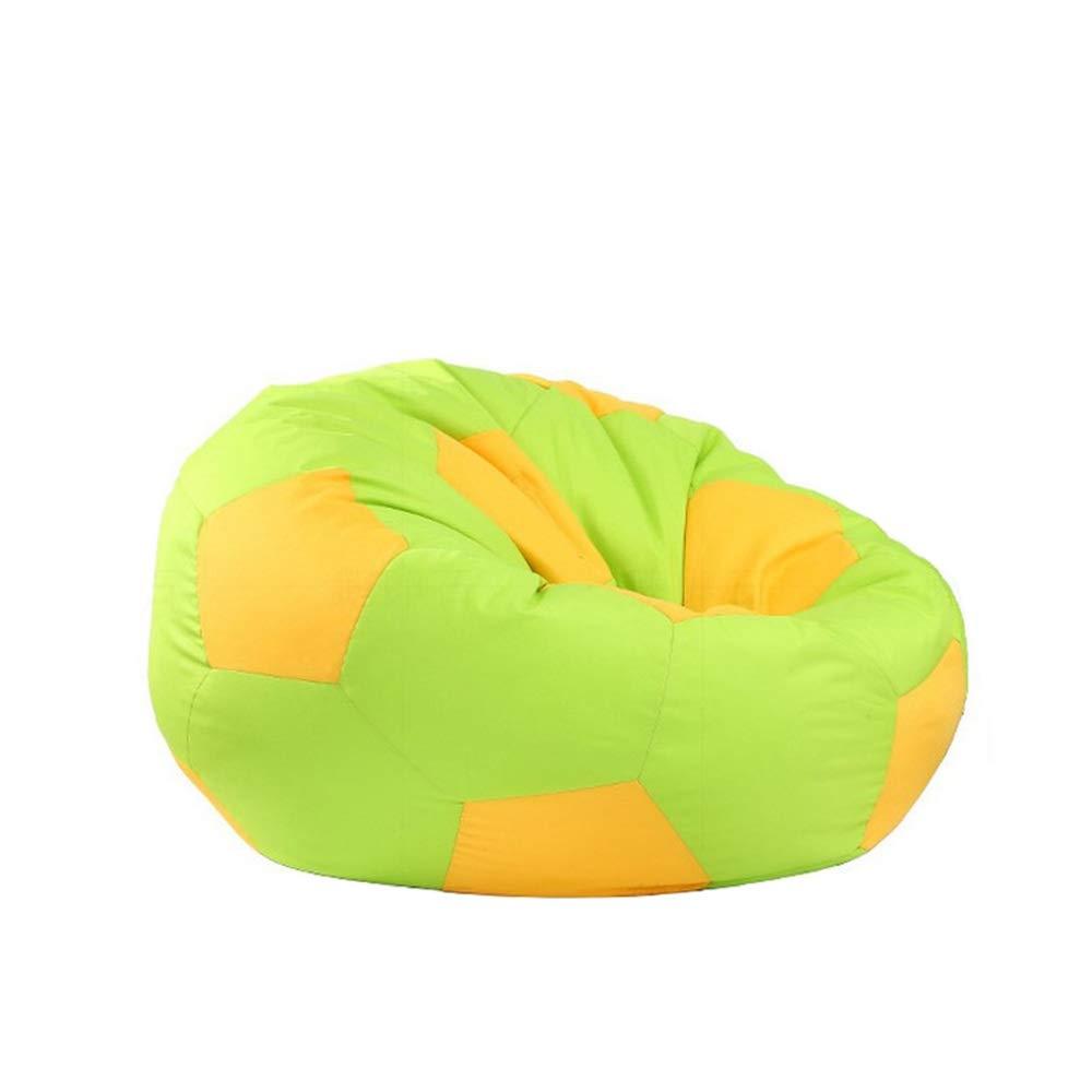 Green 80cm Gaming Beanbag Sofa Big Joe Bean Bag Chair Soccer Ball (color   Green, Size   80cm)