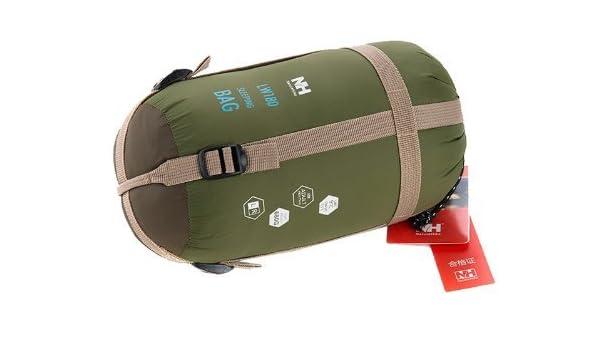 DSstyles Saco de Dormir para Exterior (Color Verde Militar, con Sobre, Ultraligero): Amazon.es: Hogar