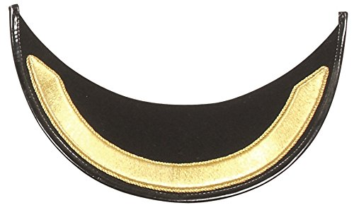 Gold Bullion Wire Handmade Single Row Embroidered Peak Visor for Military Peak Cap