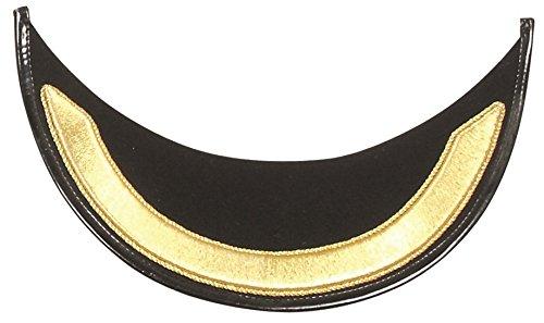 - Gold Bullion Wire Handmade Single Row Embroidered Peak Visor for Military Peak Cap