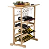 Vinny 24-Bottle Wine Rack with Natural Finish