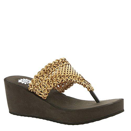 yellow box flip flops brown - 4