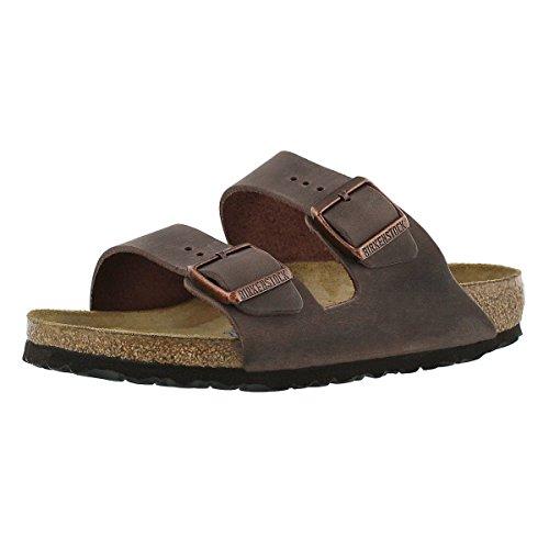 Birkenstock Women's Arizona 2-Strap Cork Footbed Sandal Brown 39 M EU (Birkenstock Soft Sandals)