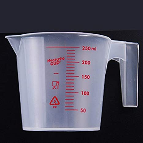 Amazon com: Cup Glass - 250ml Plastic Measuring Cup Coffee