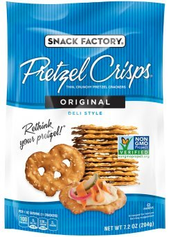 Snack Factory Deli Style Crunchy Pretzel Cracker Crisps, 8 Flavor Variety Pack, 7.2 Ounce Bags (Pack of 16) by Snack Factory (Image #8)