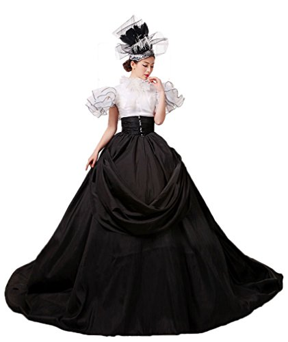 Zukzi Women's Gorgeous Victorian Train Ball Gown Wedding Dress, US 18, #Y001 Black by Zukzi