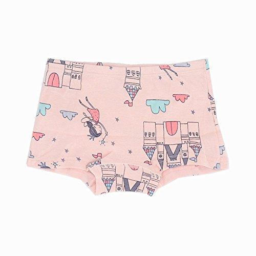 Toddler Little Girls Boyshort Panties Kids Cotton Briefs Underwear Set 6 Pack (3T-4T, Style1) by Junoai (Image #5)