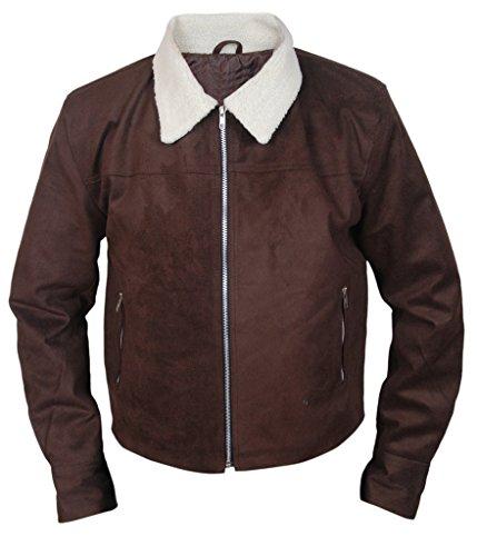 F&H Men's The Walking Dead Rick Grimes Suede Jacket XL Brown