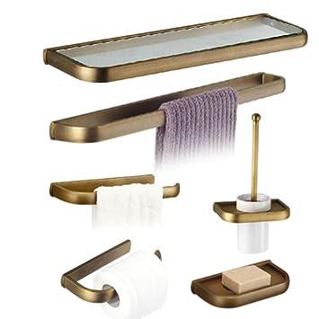 304 Edelstahl Bad-accessoires Set Wandhalterung Handtuchhalter Heimwerker Bad Hardware Badezimmer Rack Toilettenpapier Regal Set