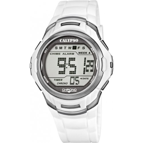 CALYPSO Reloj by Festina Unisex Digital multifunción Blanco - k5611-4: Amazon.es: Relojes