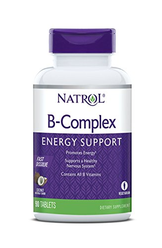Natrol B-Complex Fast Dissolve Tablets, Coconut flavor, 90 Count