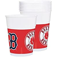 fan products of Amscan Baseball Dream Boston Red Sox Plastic Cups Tableware, 14 Oz, Pack of 25 Party Supplies
