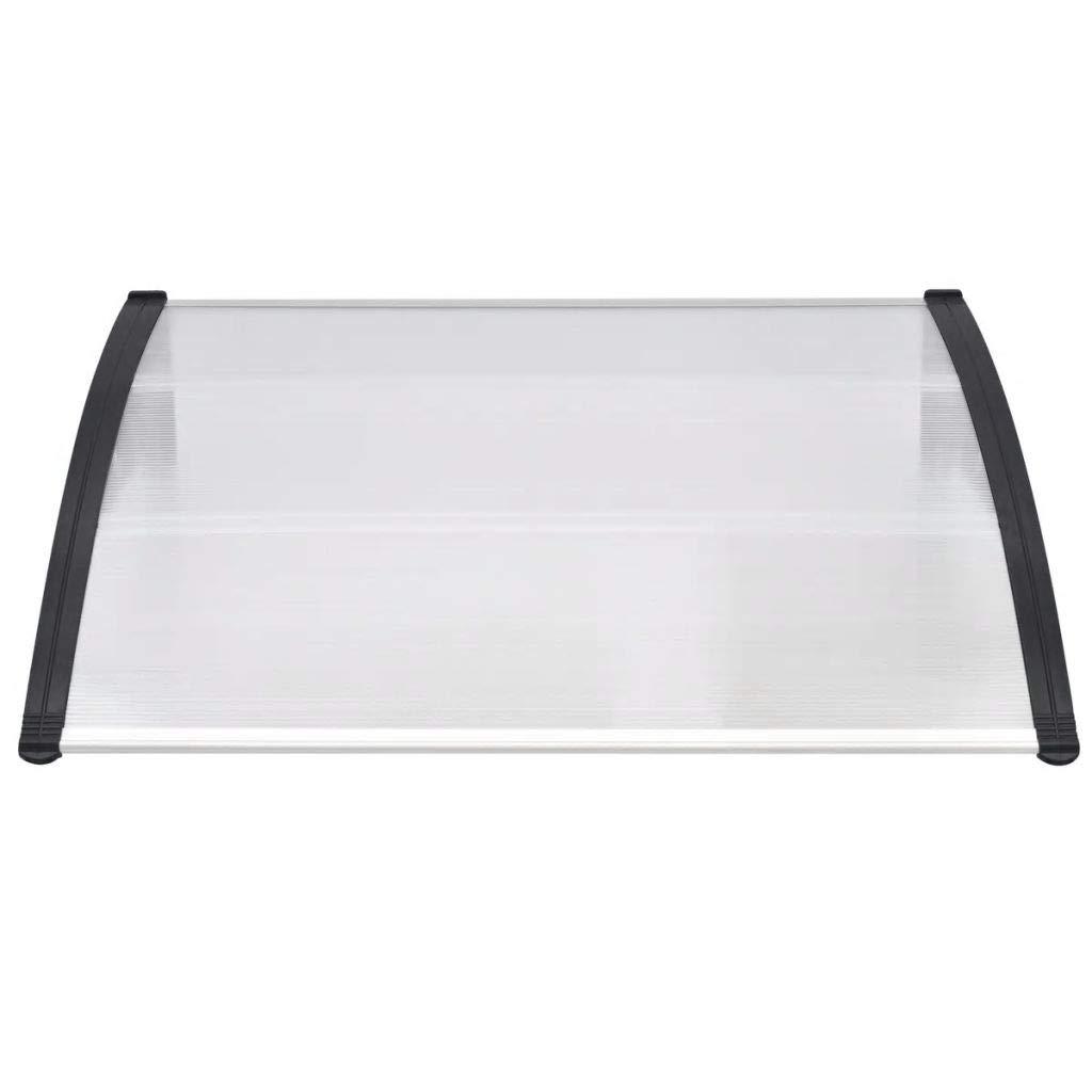 tidyard T/ürvordach Transparentes Vordach Pultvordach Haust/ürvordach Haust/ür /Überdachung Polycarbonat-Platten 120 x 100 cm